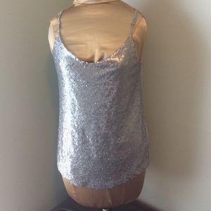 Joe Fresh Sequined Camisole Tank Top